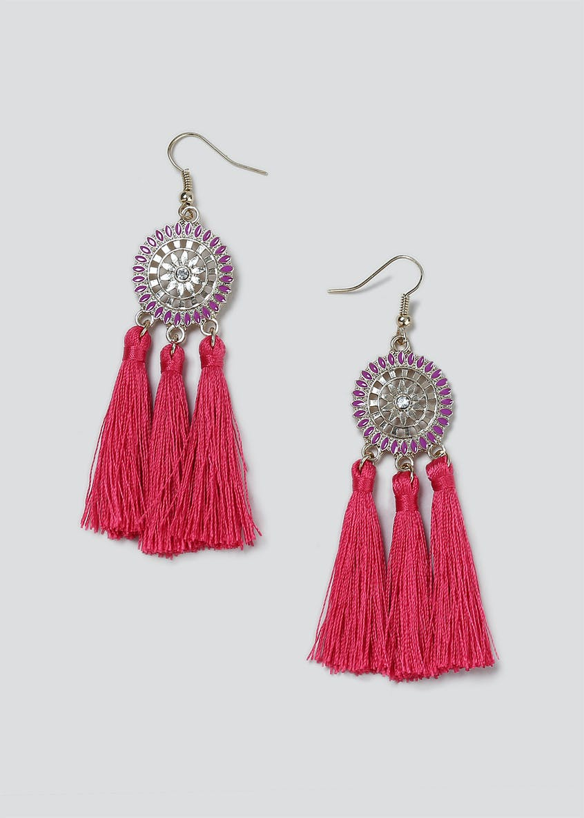 Enamel Tassel Earrings