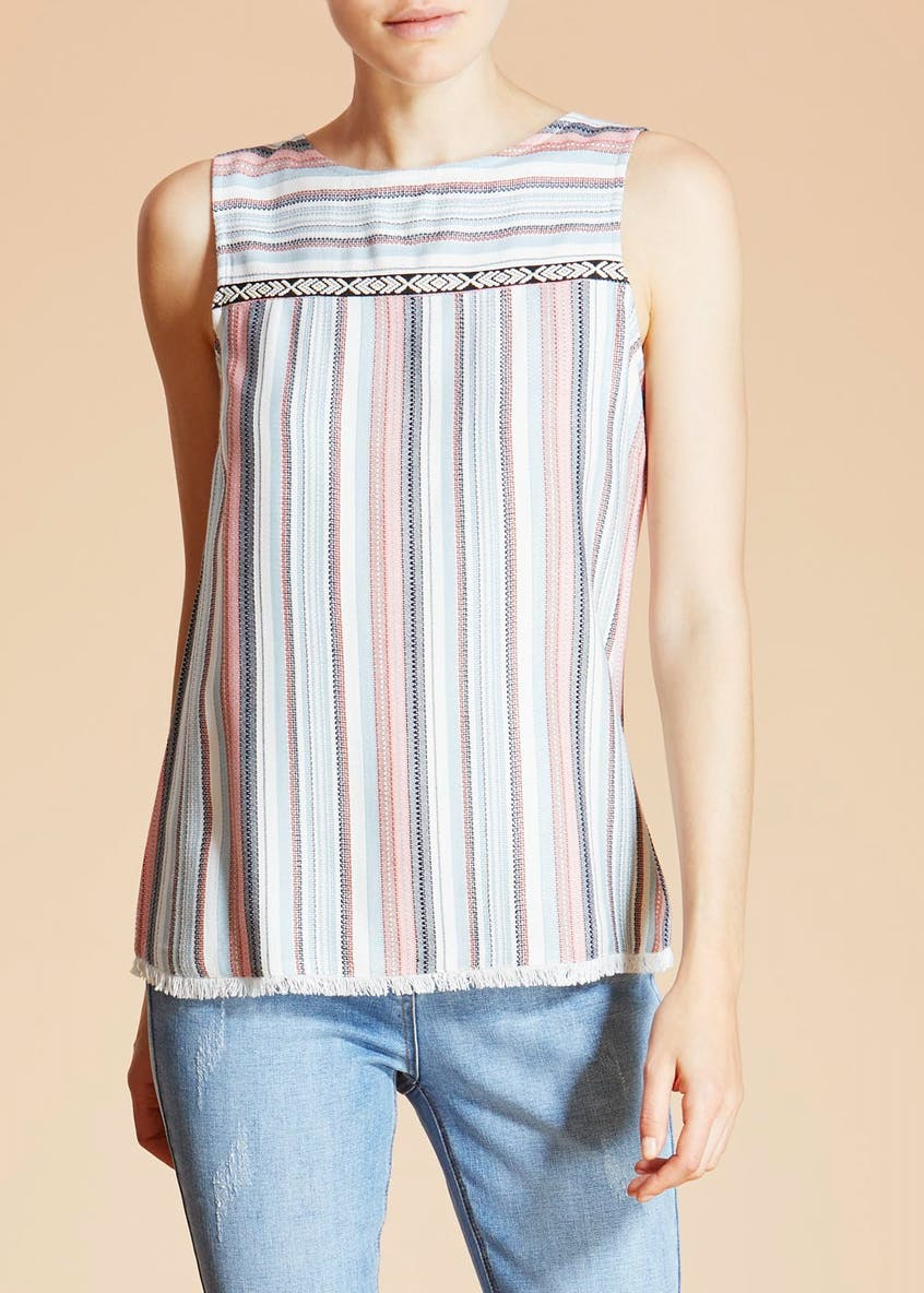 Falmer Jacquard Sleeveless Top