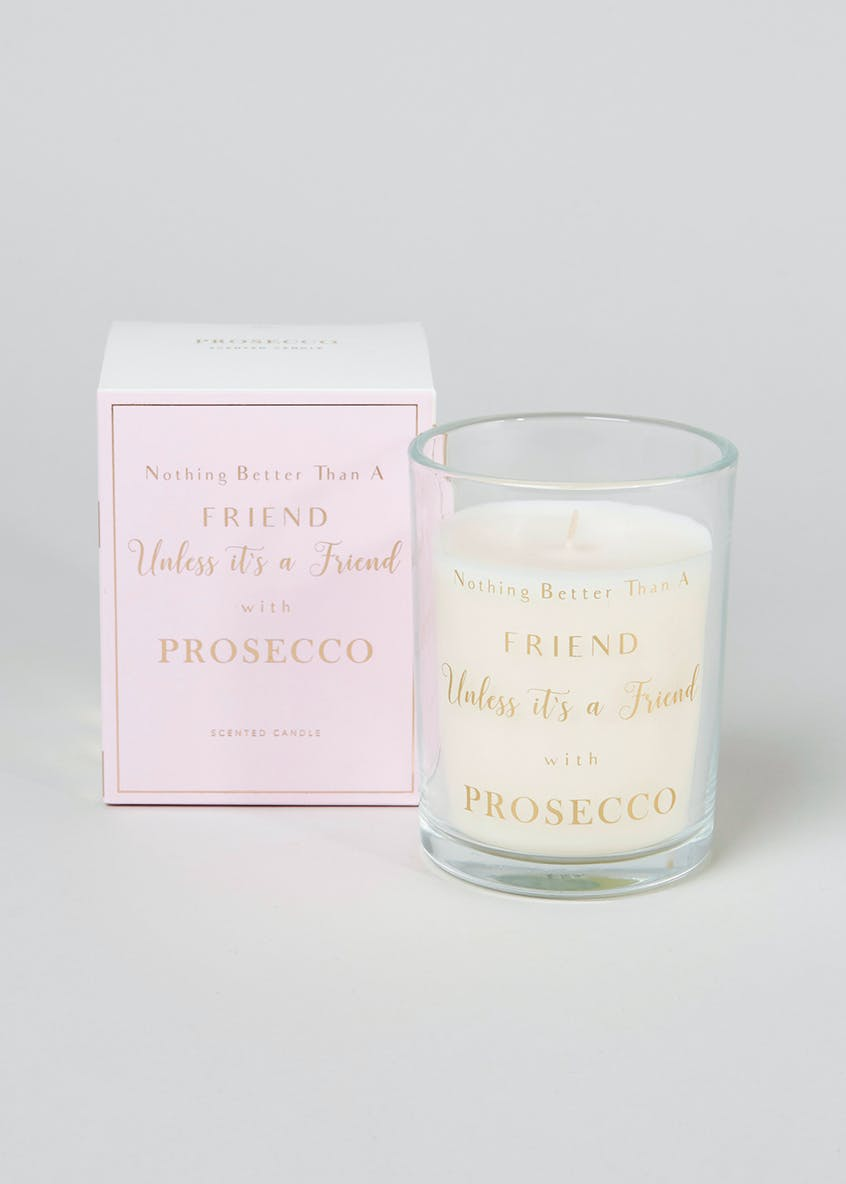 Prosecco Scented Candle (11cm x 9cm x 9cm)