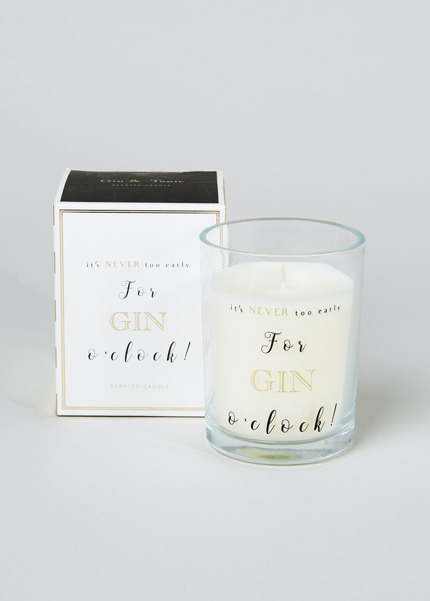 Gin & Tonic Scented Candle (11cm x 9cm x 9cm)
