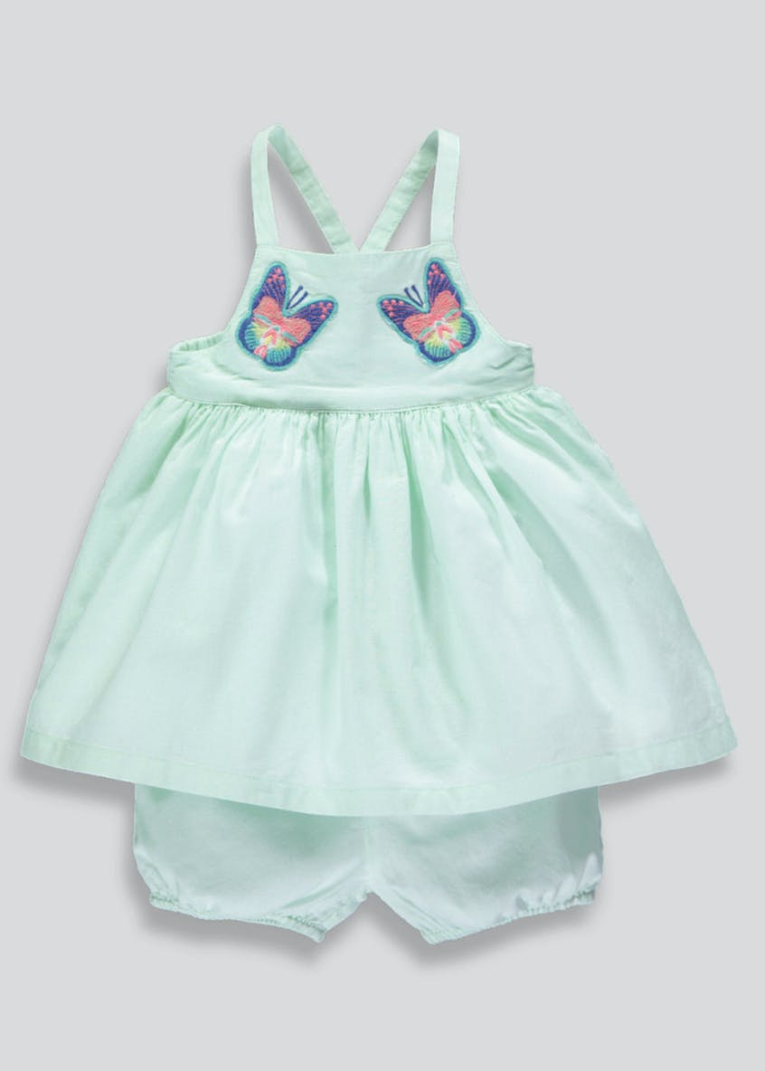 Girls Butterfly Embroidery Top & Shorts Set (Newborn-18mths)