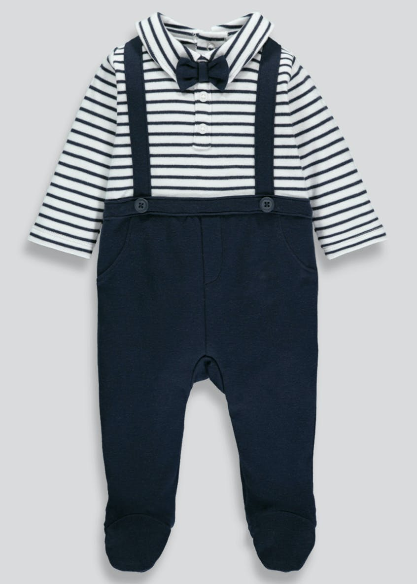 Stripe Smart Sleepsuit (Tiny Baby-12mths)