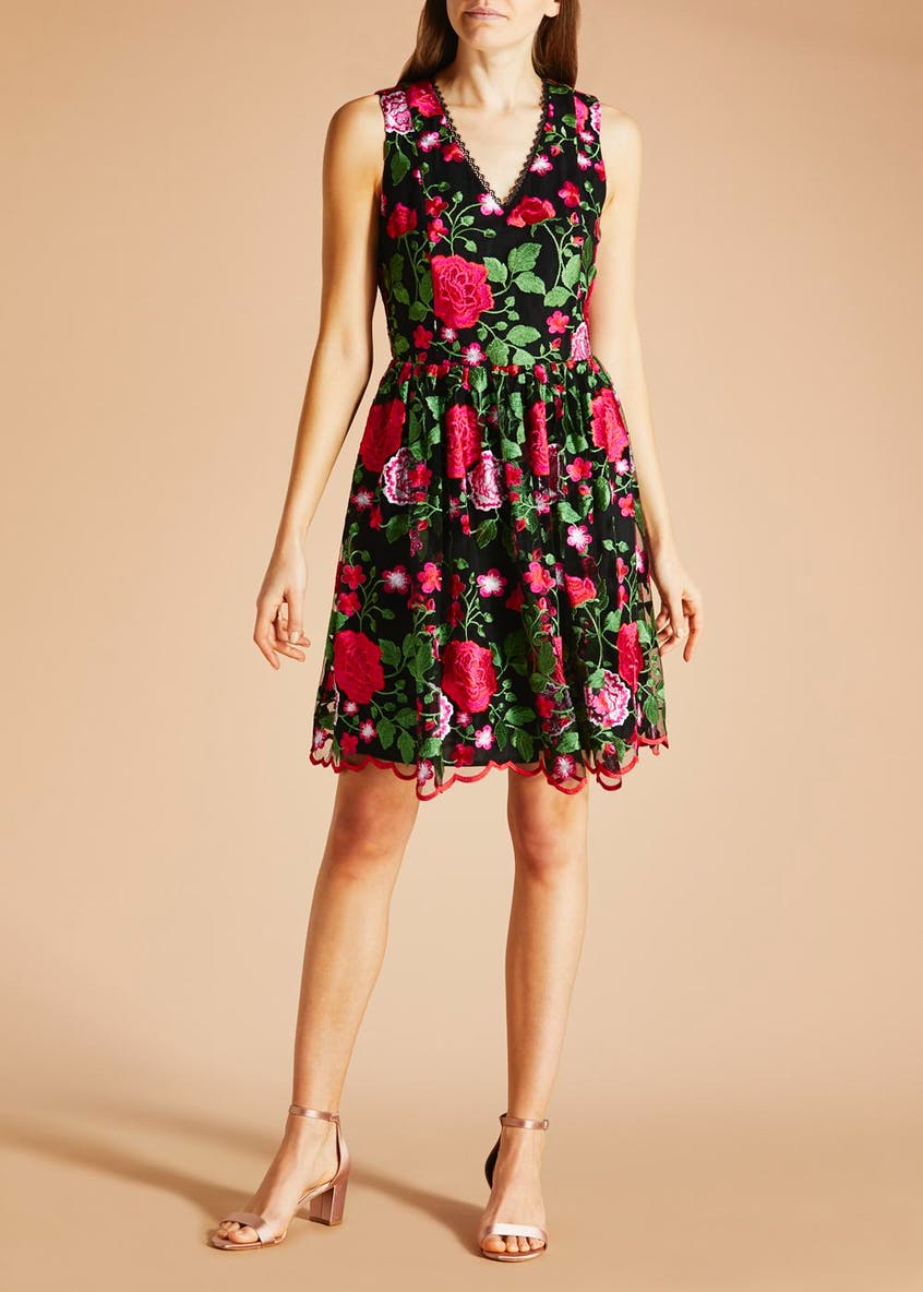 FWM Floral Lace Skater Dress