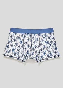 Palm Print Hipster Trunks