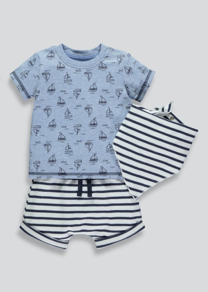 Boys 3 Piece Nautical Set (Newborn-18mths)