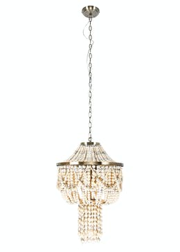 Clara Wooden Beaded Chandelier (H140cm-60cm x W40cm)
