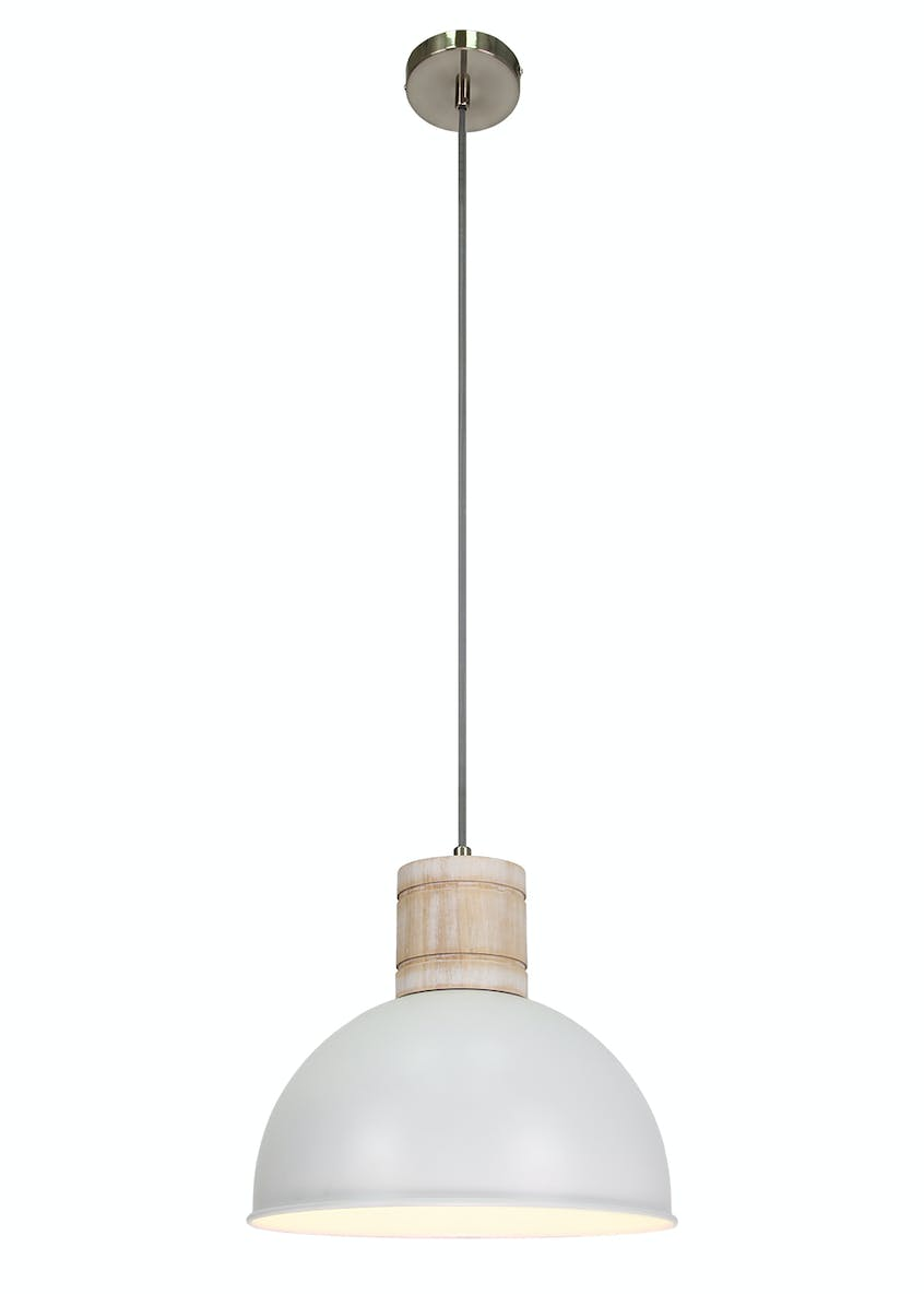 Brighton Washed Wood Pendant Light (H100cm-30cm x W31cm)