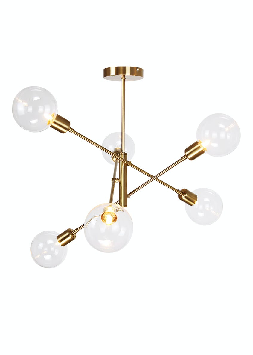 Nova Glass Semi Flush Light (W68cm x H64cm)