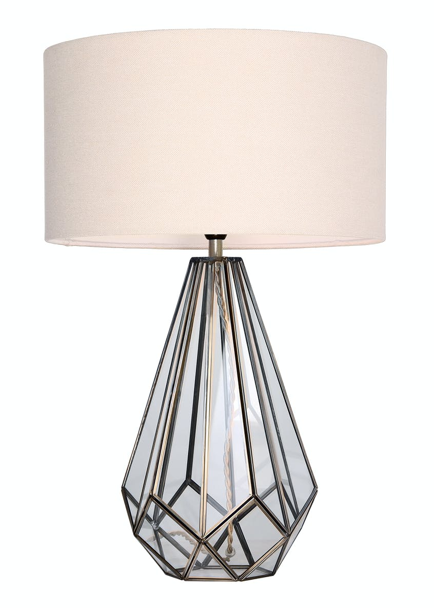 Ava Glass Table Lamp (H57cm x W38cm)