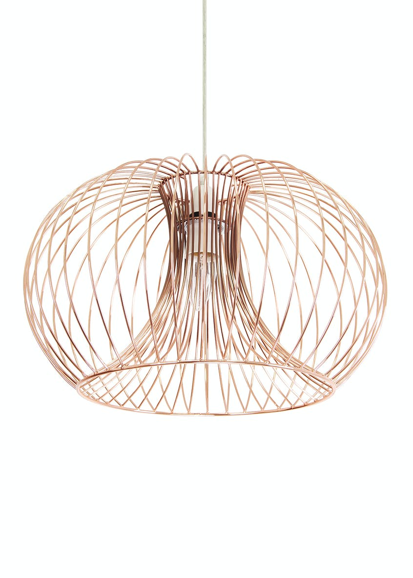 Alberta Copper Easy Fit Lamp Shade (H20cm x W40cm)