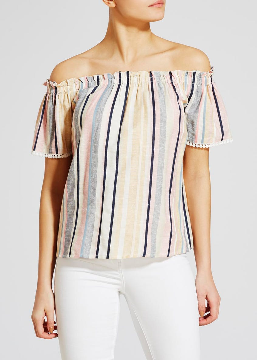 Stripe Bardot Blouse