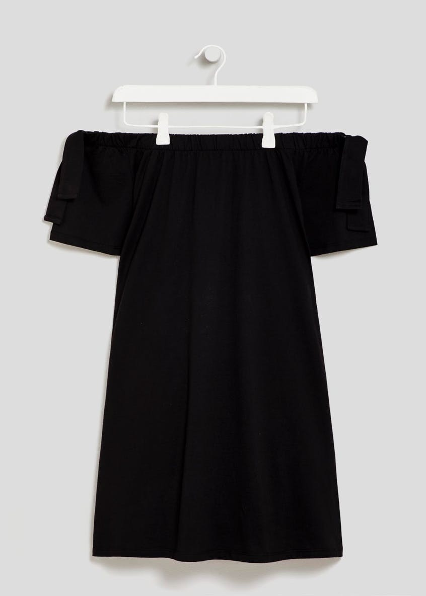 Jersey Bardot Dress - Black