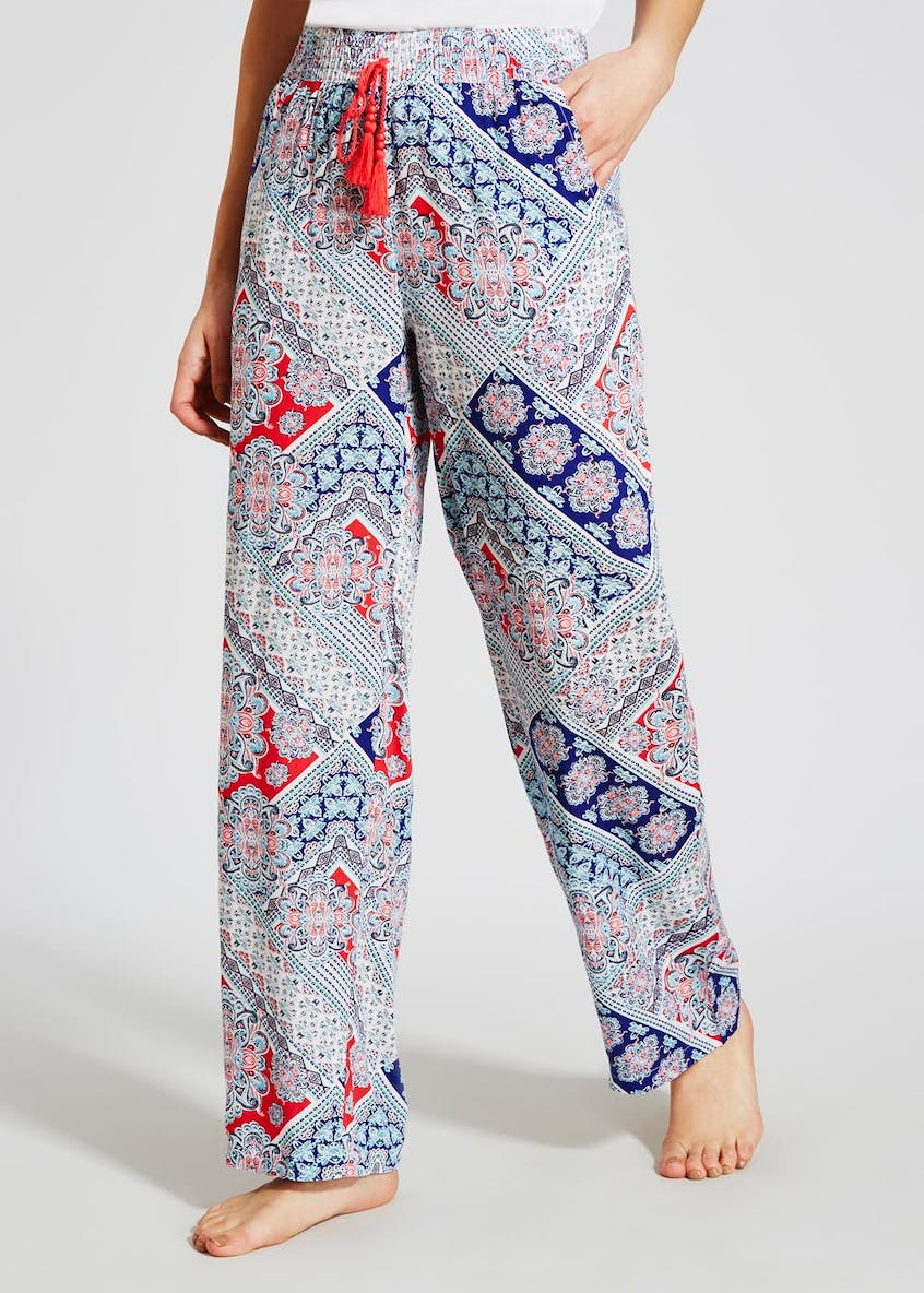 Tile Print Pyjama Bottoms