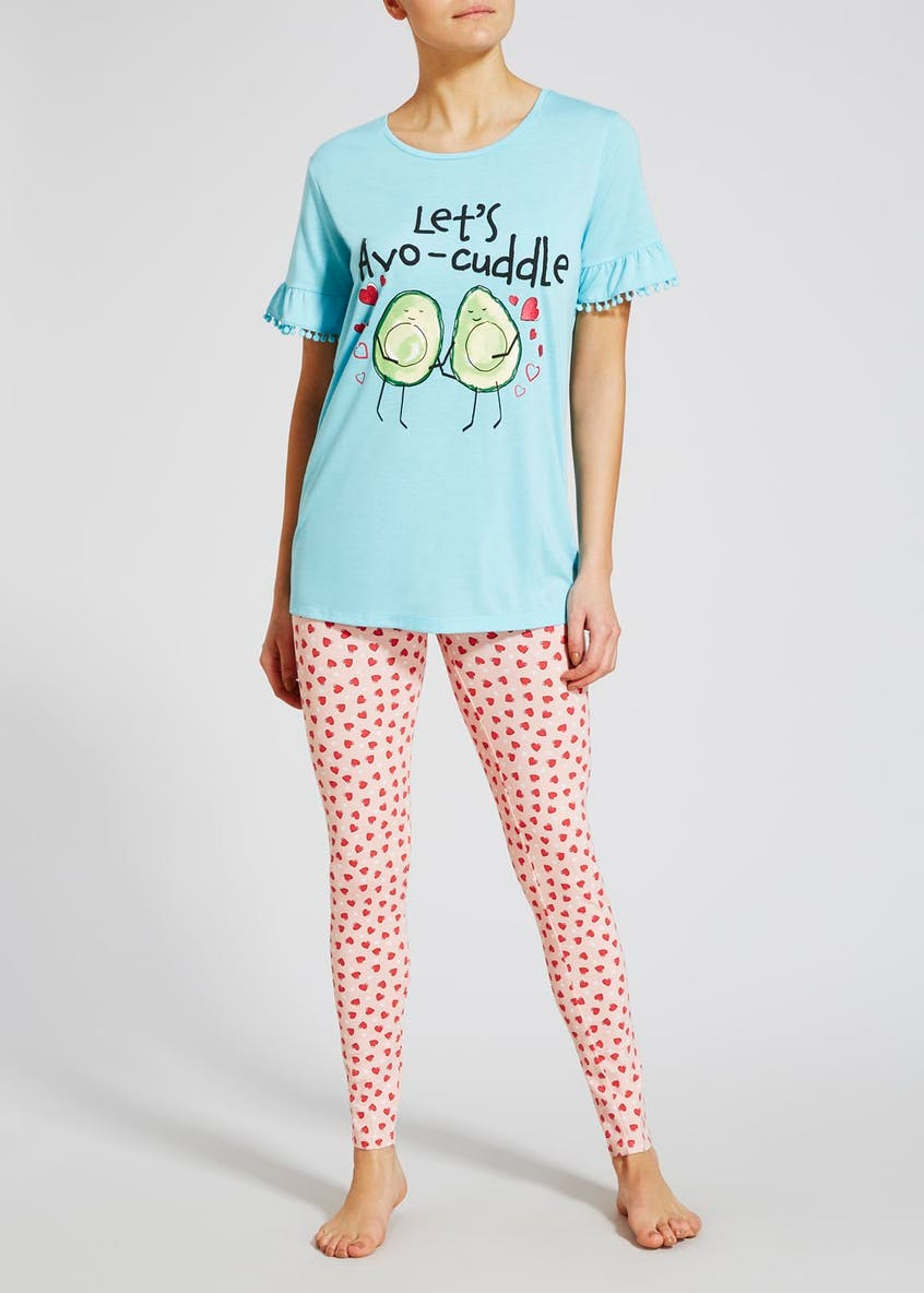 Avocado Slogan Pyjama Set