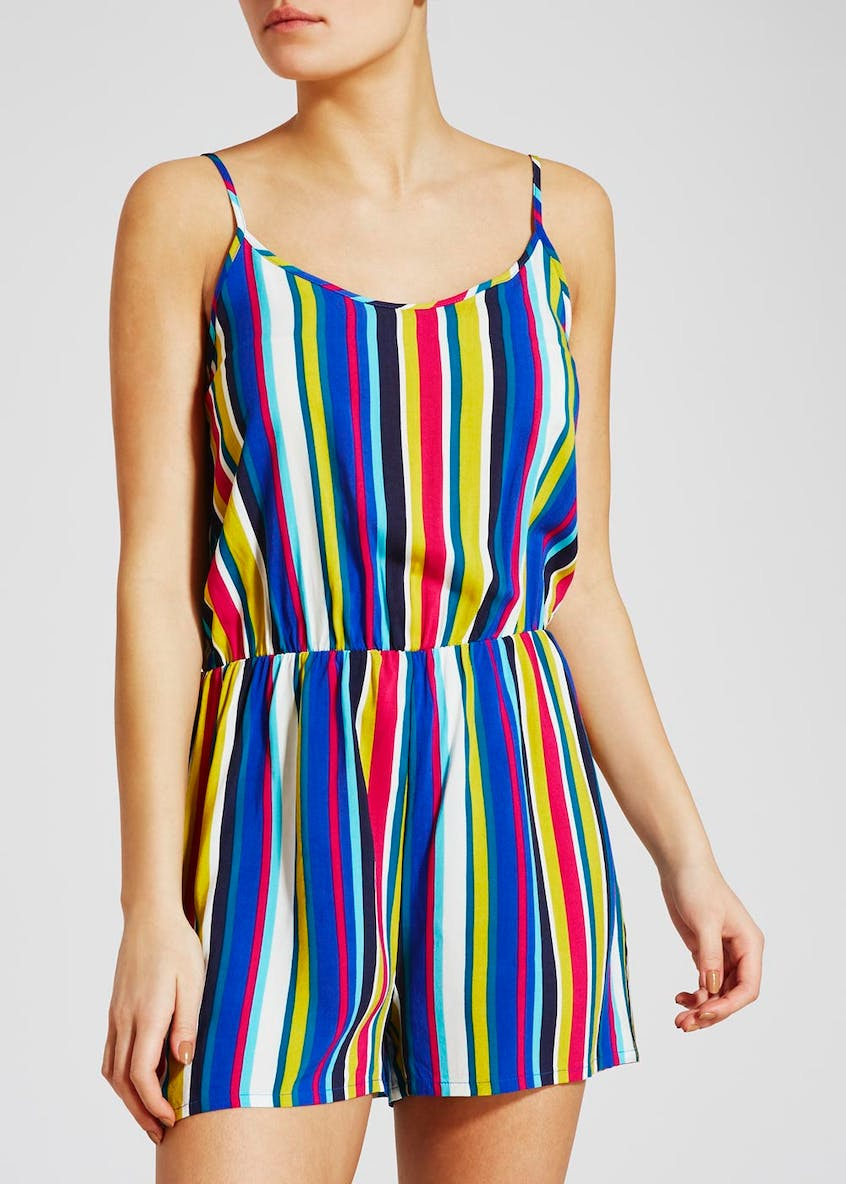 Stripe Viscose Playsuit