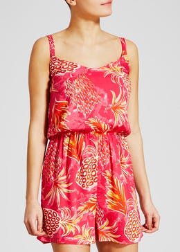 Pineapple Print Viscose Playsuit