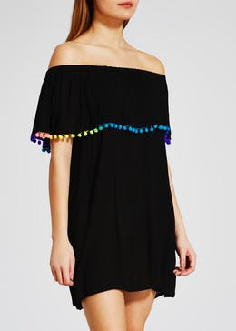 Pom Pom Bardot Dress