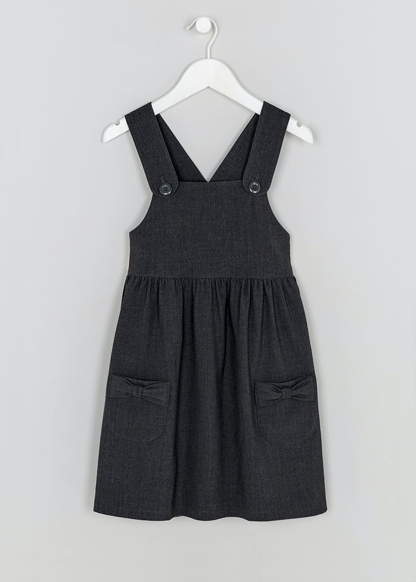 Girls Button Strap School Pinafore (3-8yrs)