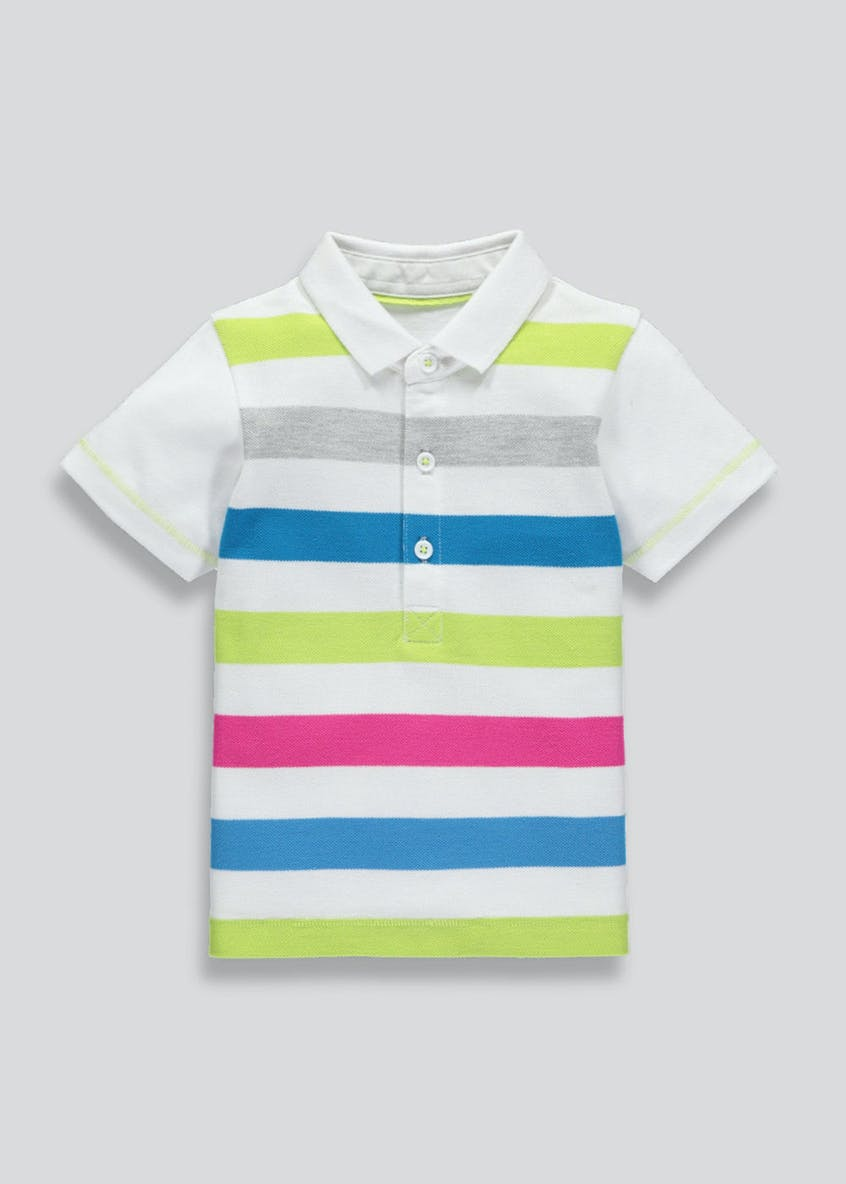 Boys Stripe Pique Polo Shirt (3mths-6yrs)