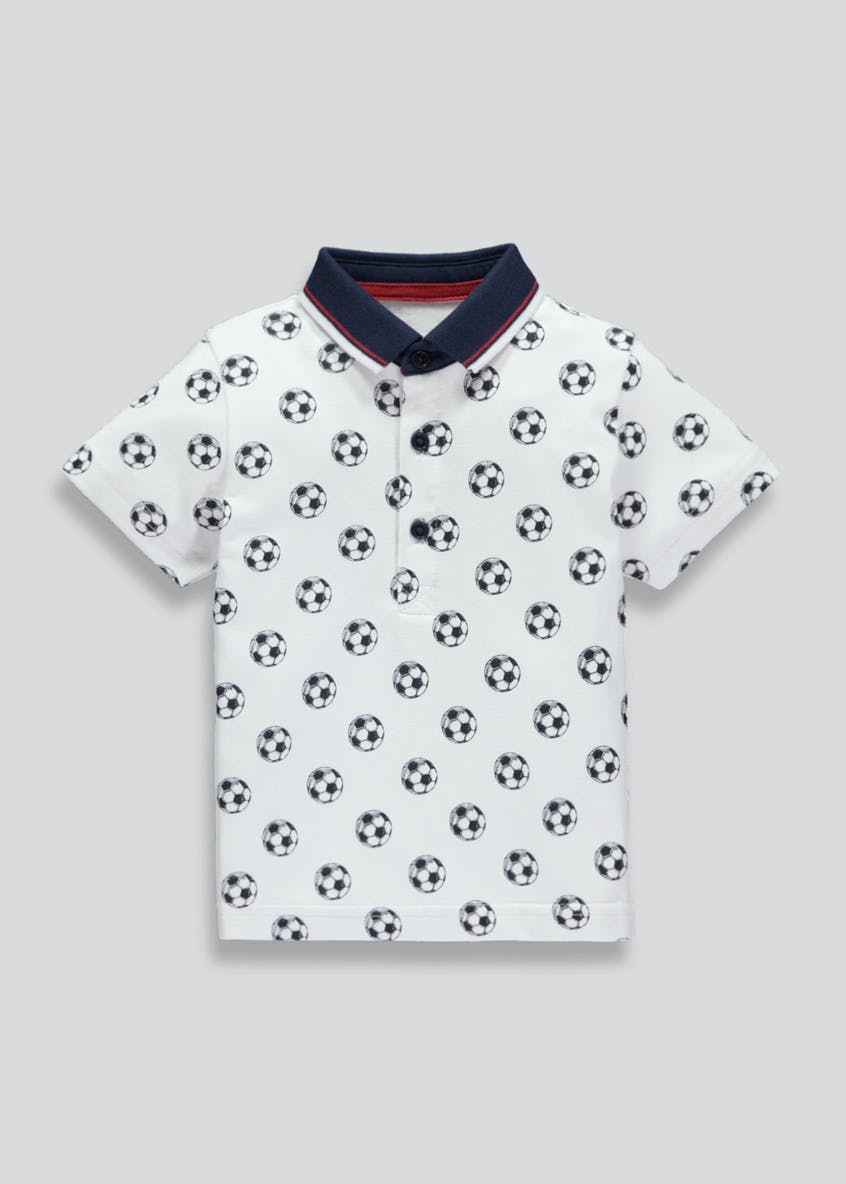 Boys Football Print Polo Shirt (3mths-6yrs)