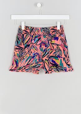 Girls Candy Couture Leaf Print Frill Shorts (9-16yrs)
