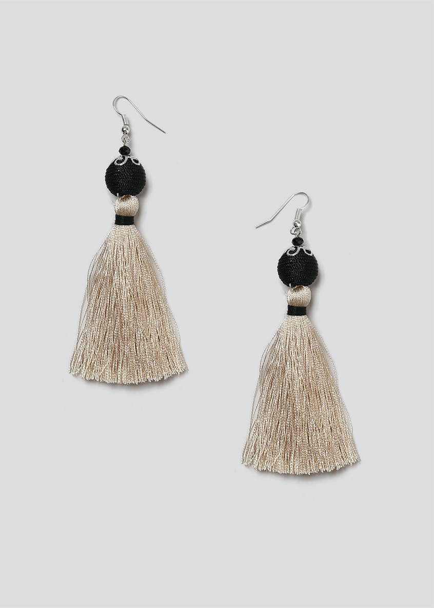 Ball And Tassel Drop Earring