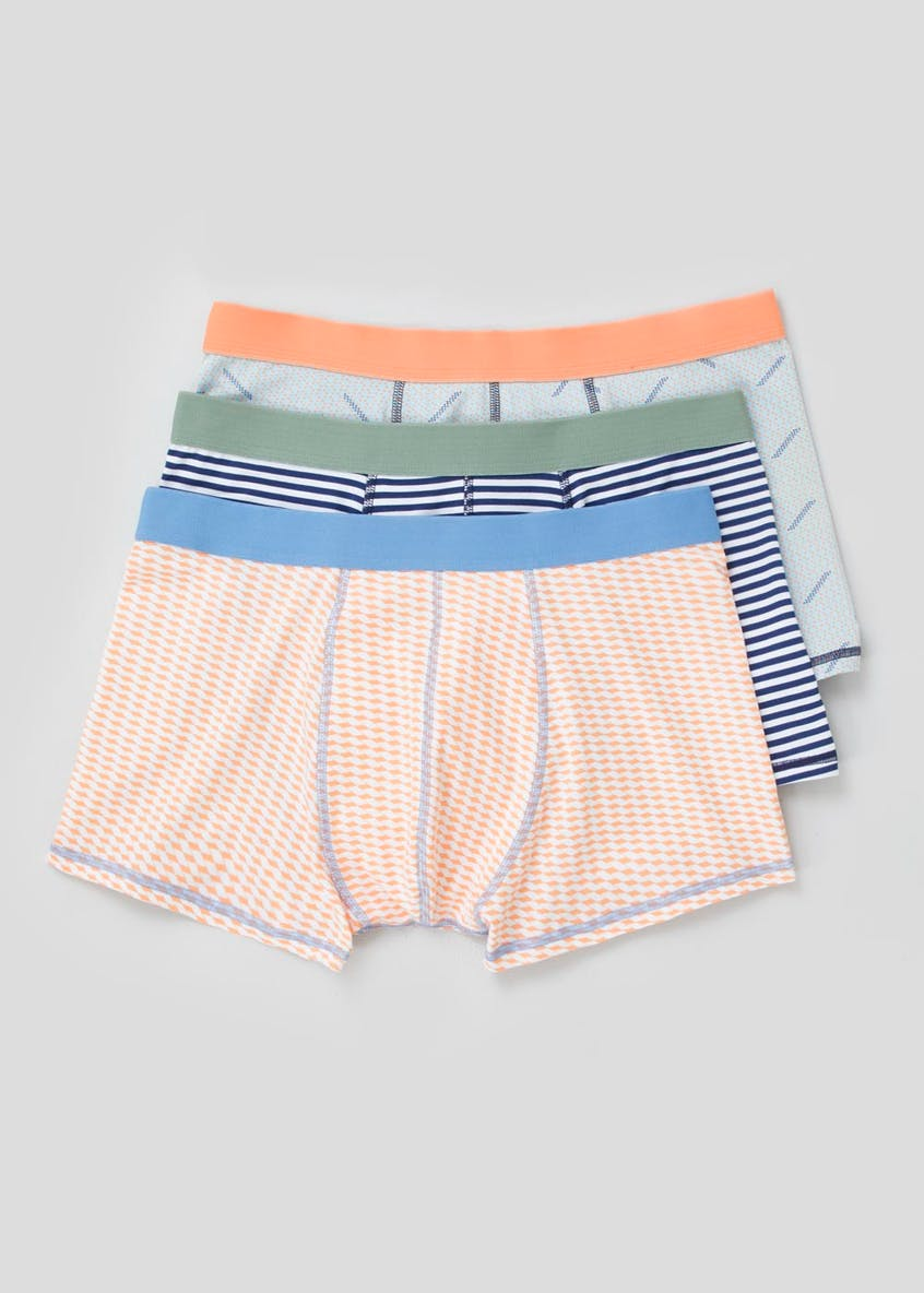 3 Pack Printed Hipster Boxers