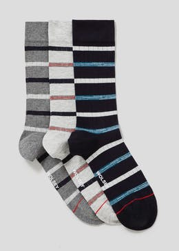 3 Pack Wolsey Space Dye Stripe Socks