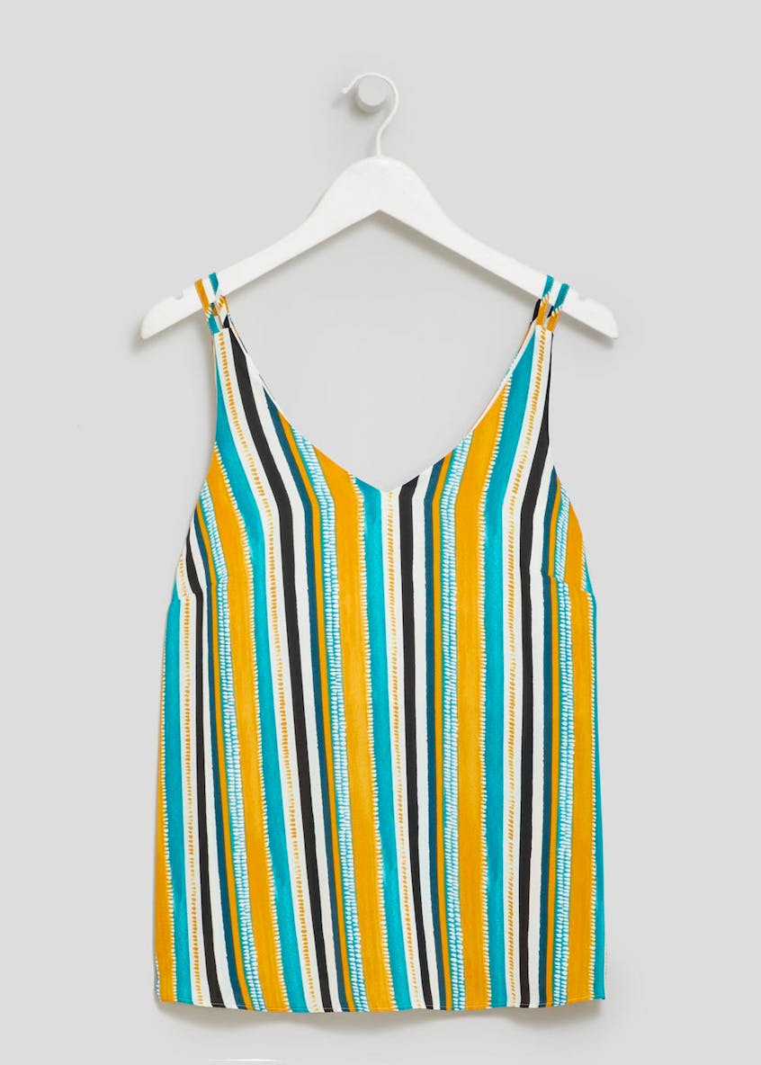 Stripe Double Strap Cami