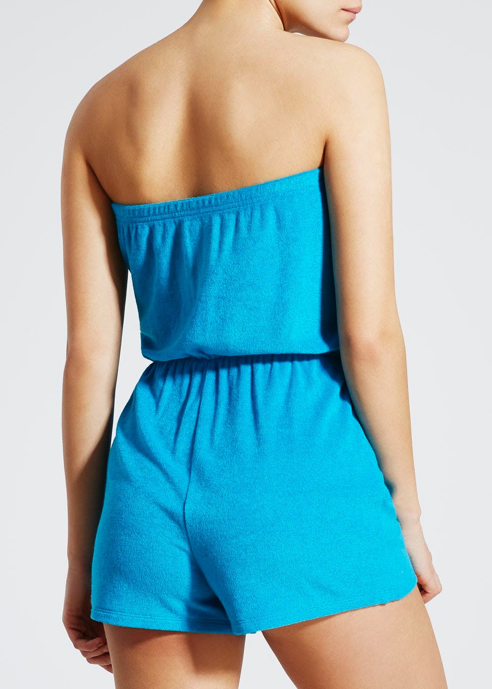 86706f2c0f Towelling Bandeau Playsuit - Blue – Turquoise – Matalan