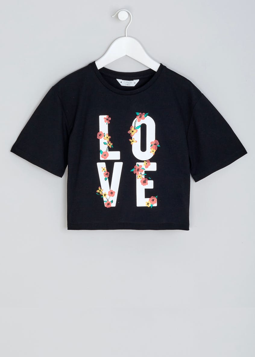Girls Candy Couture Love Slogan T-Shirt (9-16yrs)