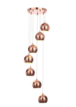 Lottie Copper Cluster Light (H100cm-30cm x W30cm)