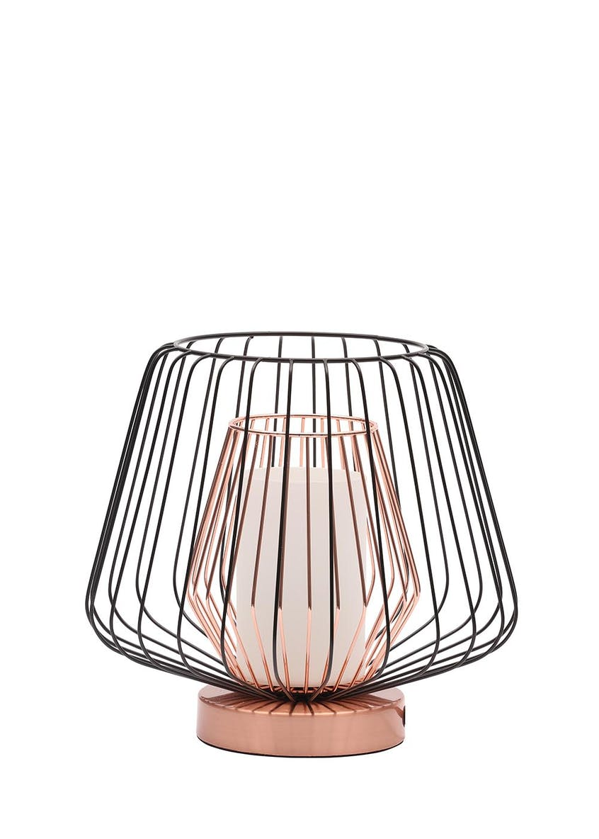 Lowa Caged Table Lamp (H23cm x W26cm)