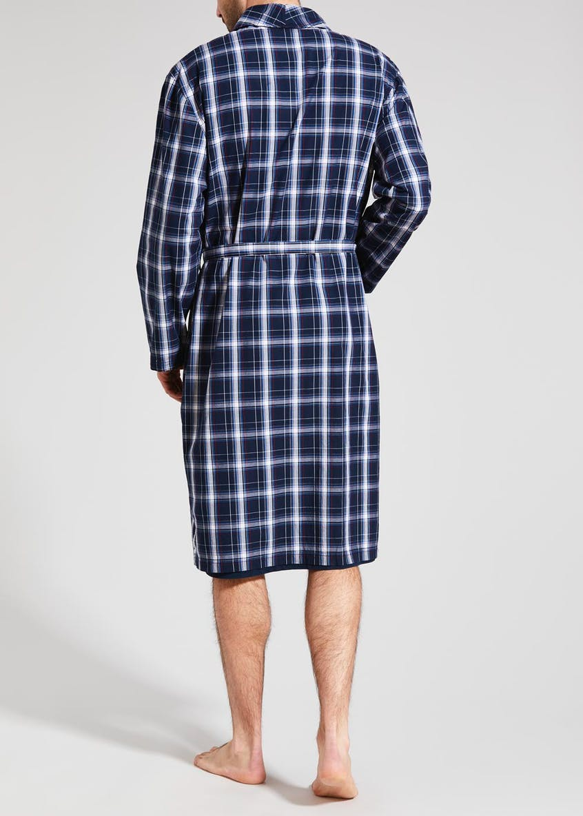 Woven Check Dressing Gown