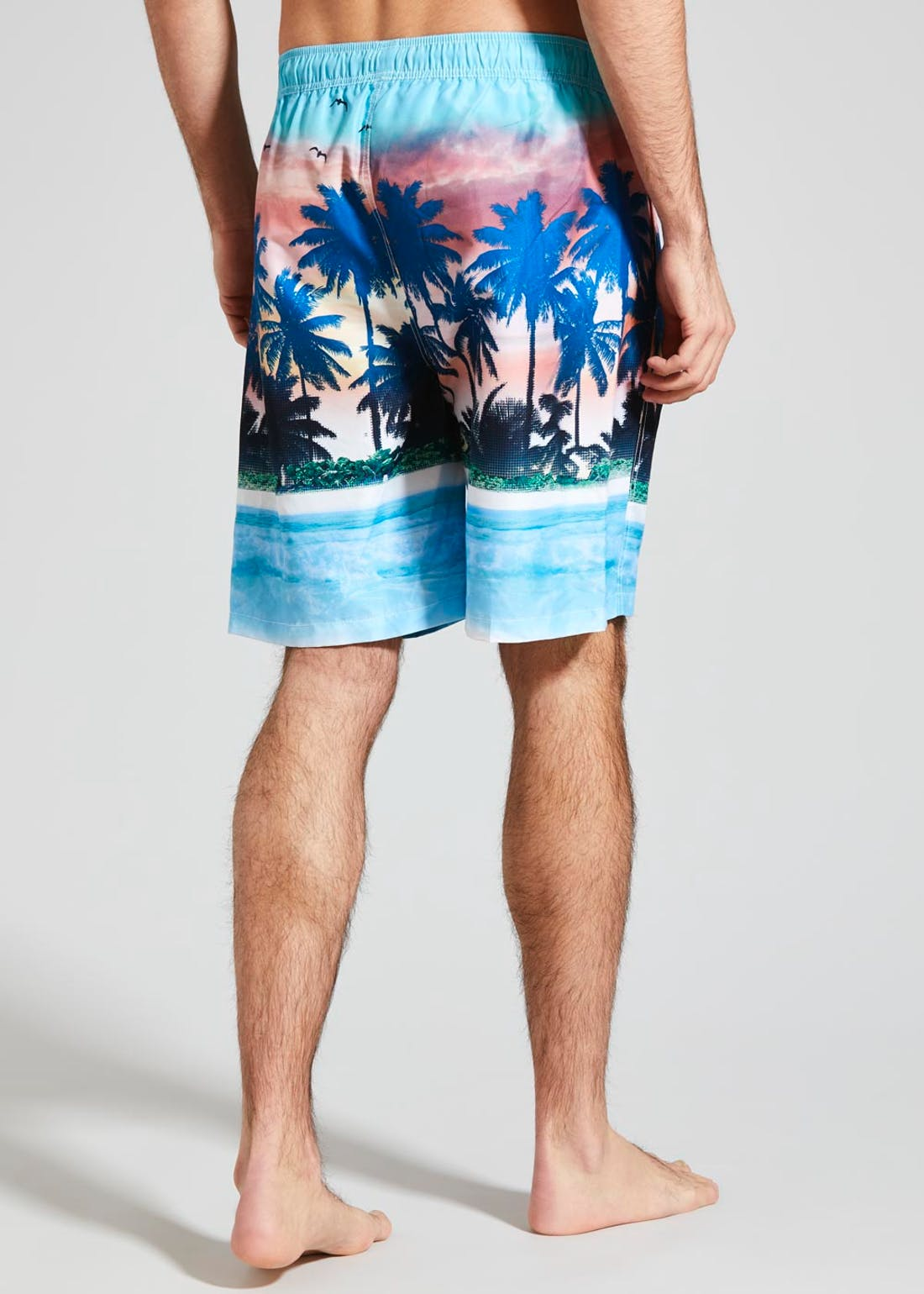 Long Length Palm Tree Swim Shorts