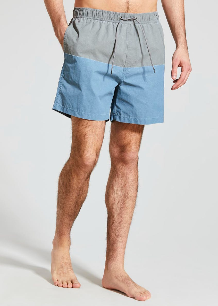 Mid Length Panel Swim Shorts