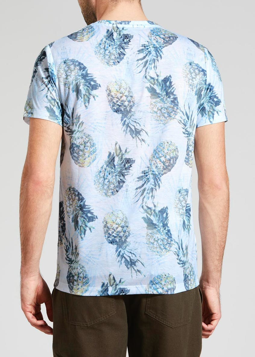 Pineapple Sublimation Print T-Shirt