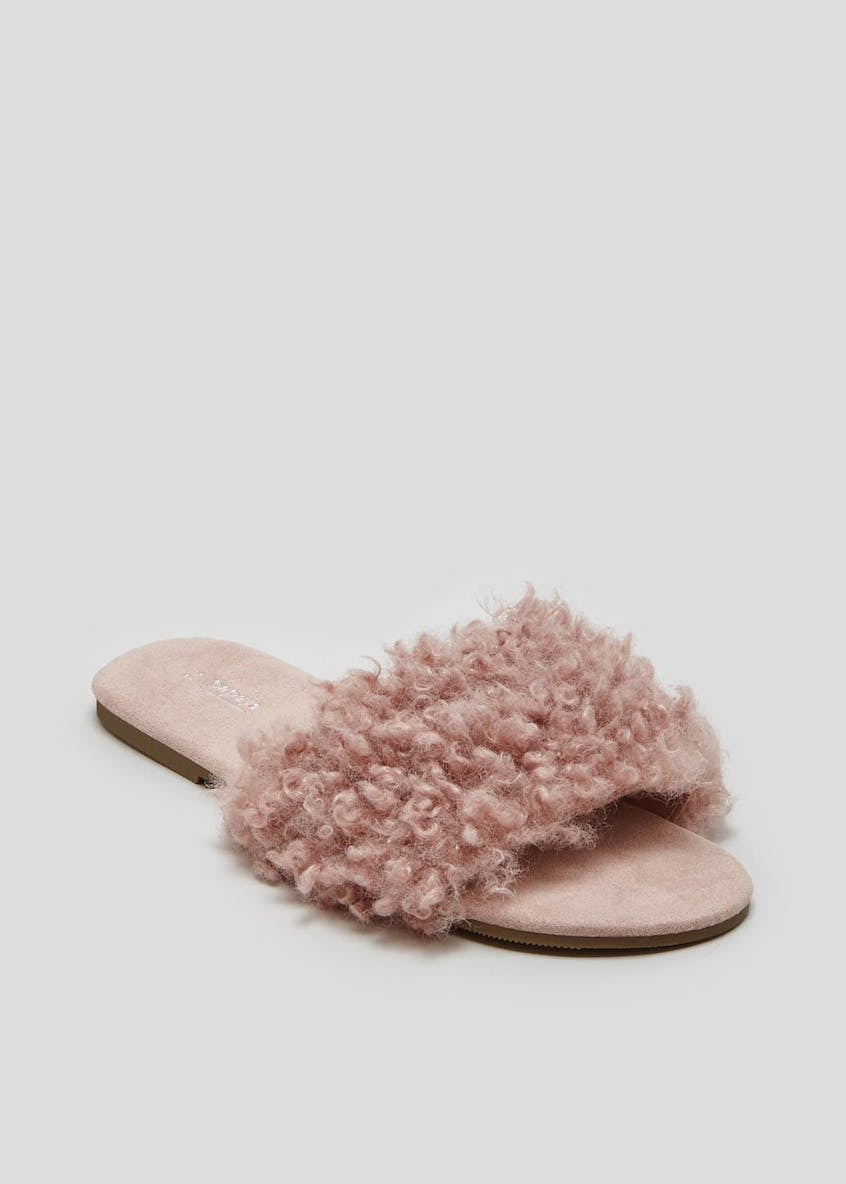 Faux Fur Slider SIippers