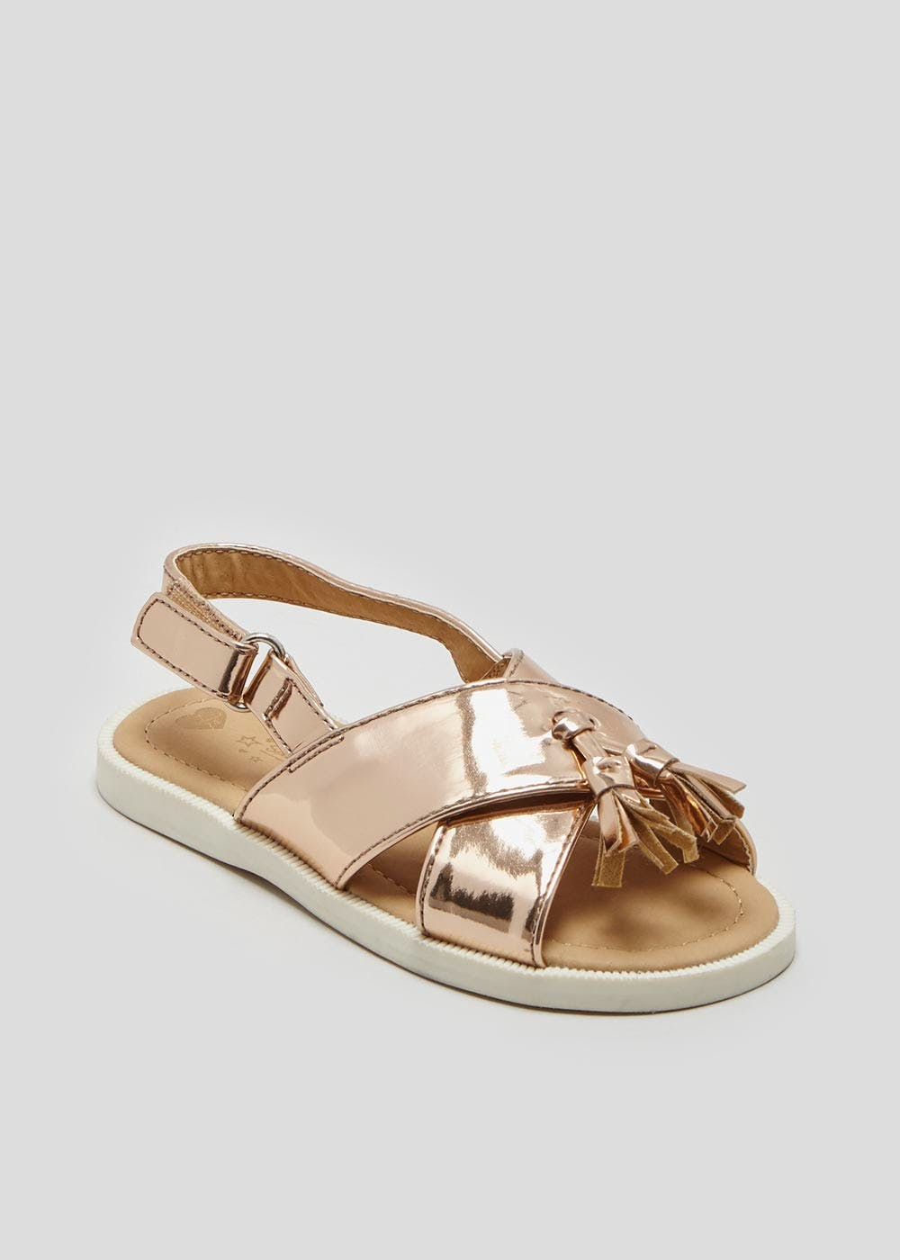 1507174c6 Girls Cross Strap Tassel Sandals (Younger 4-12) – Gold – Matalan