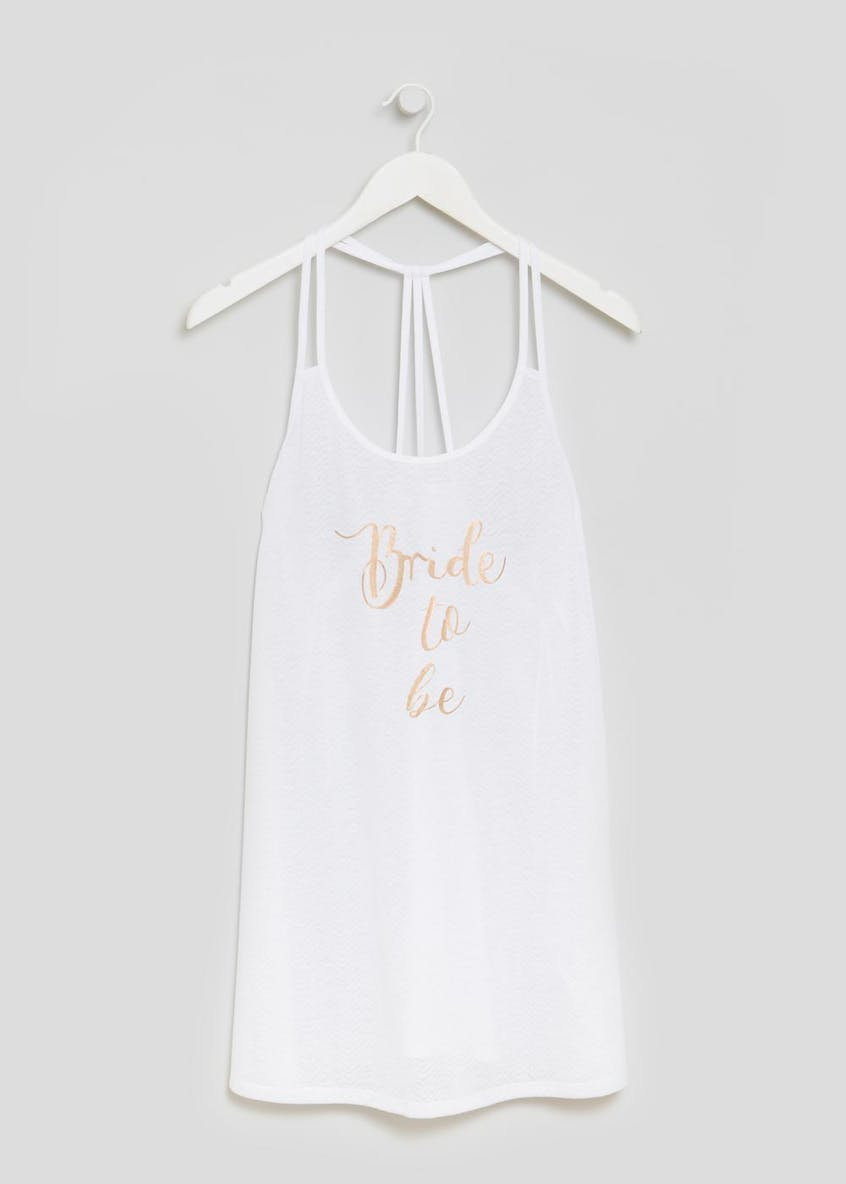 Bride to Be Slogan Vest Beach Dress