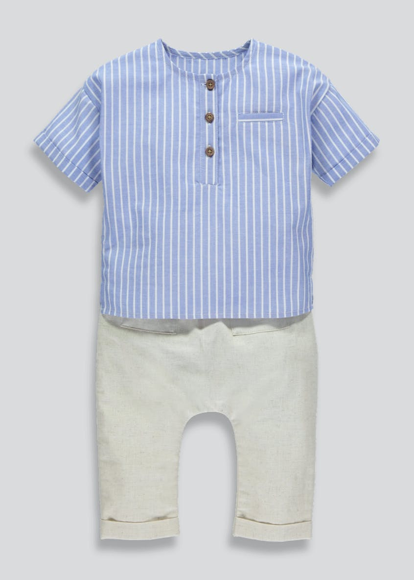 Boys Stripe Shirt & Trousers Set (Newborn-18mths)