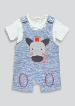 Boys Dungaree & T-Shirt Set (Newborn-18mths)