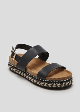 Double Platform Footbed Sandals