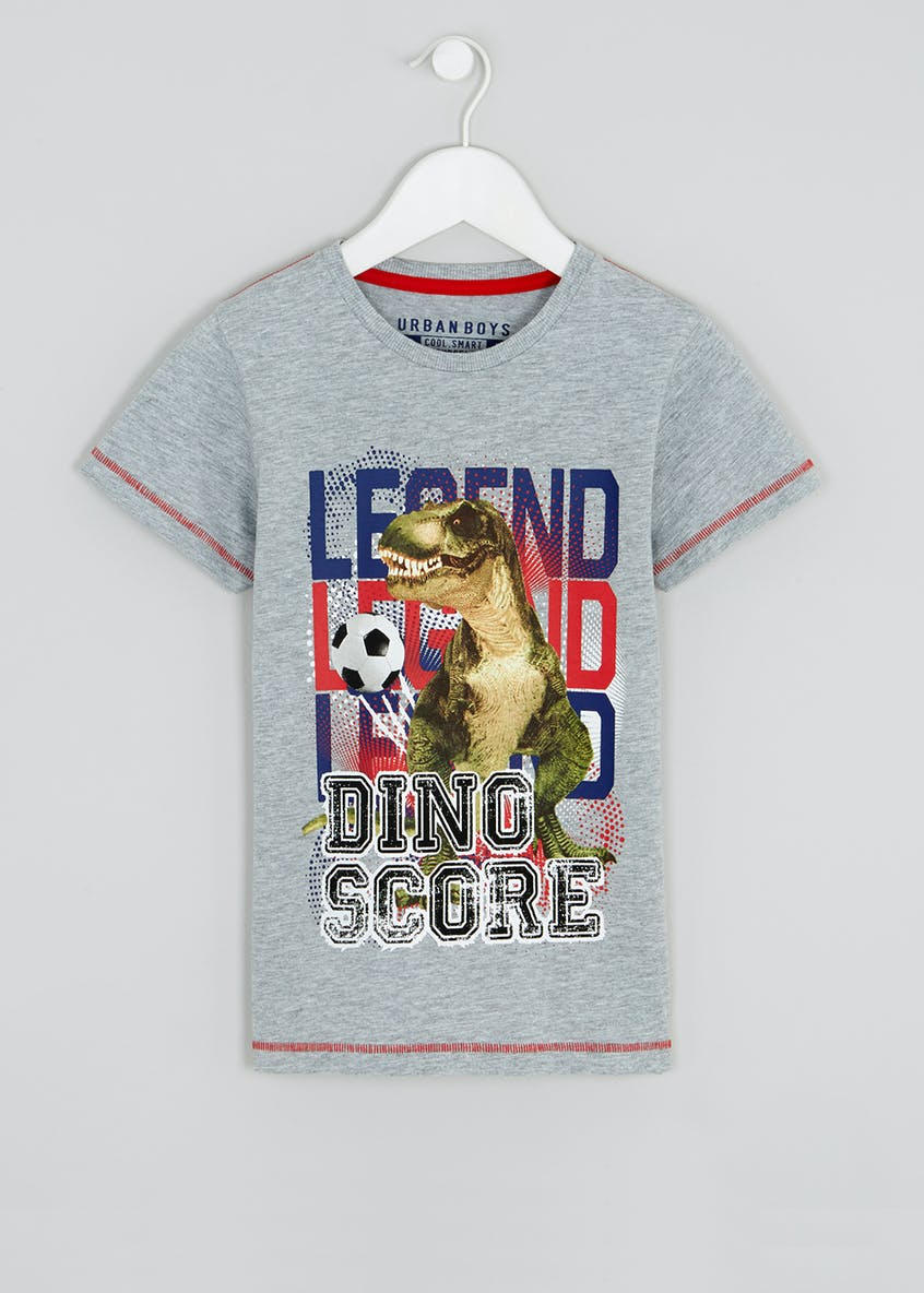 Boys Football Dinosaur T-Shirt (4-13yrs)