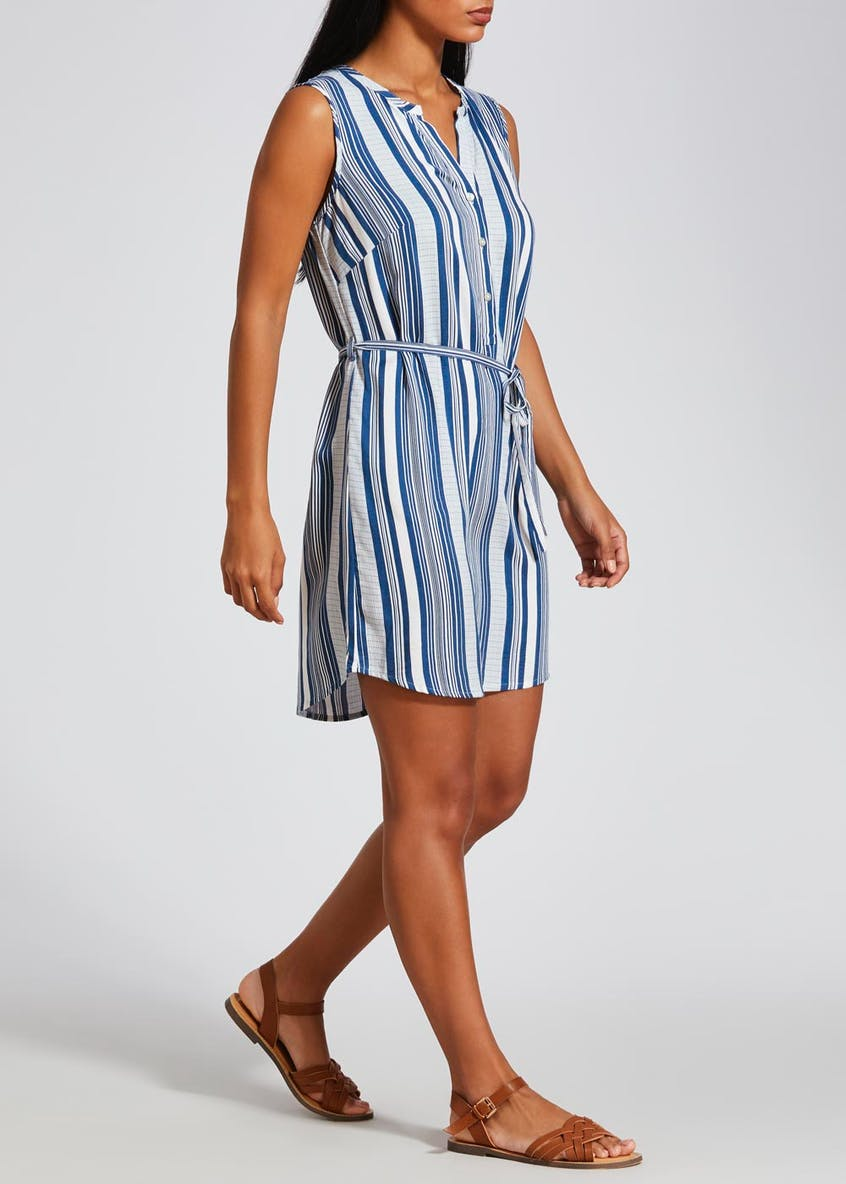 Stripe Viscose Shirt Dress