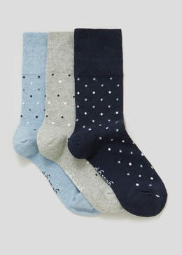 3 Pack Floral Gentle Grip Socks