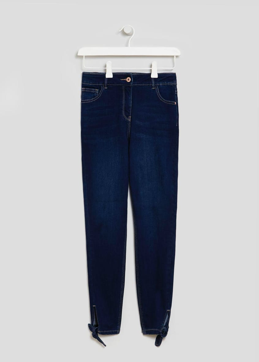 April Bow Hem Super Skinny Ankle Grazer Jeans
