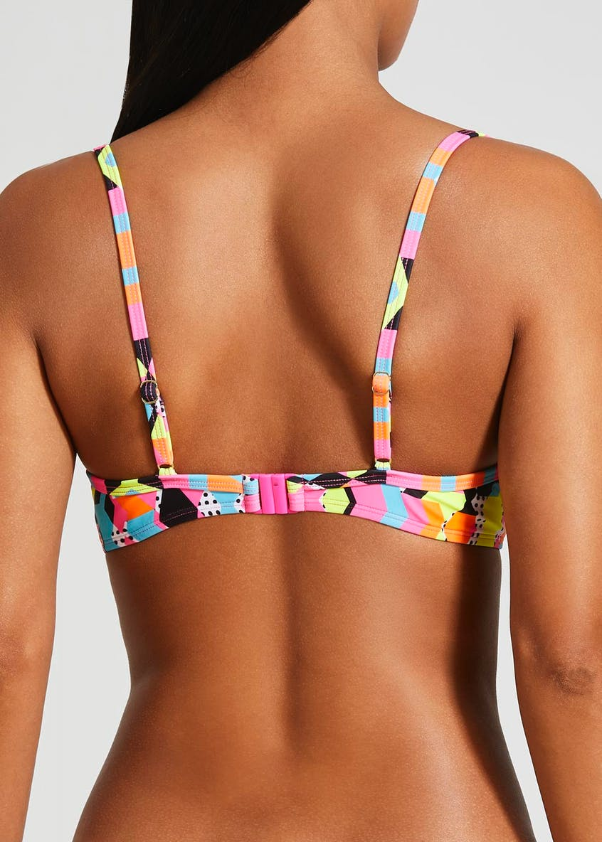 Abstract Print Bikini Top