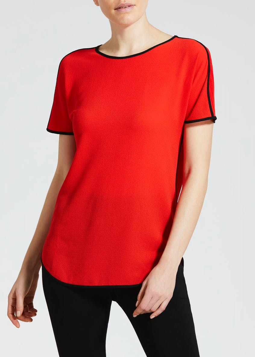 Contrast Piped Top