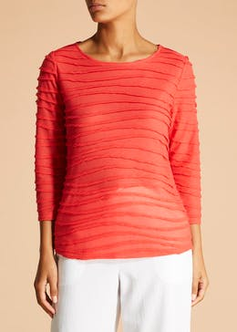 Wave Boat Neck Top